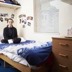Accommodation - single study bedroom